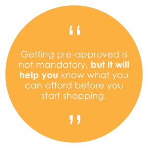 Getting pre-approved is not mandatory, but it will help you know what you can afford before you start shopping.