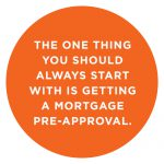 The one thing you should always start with is getting a mortgage pre-approval